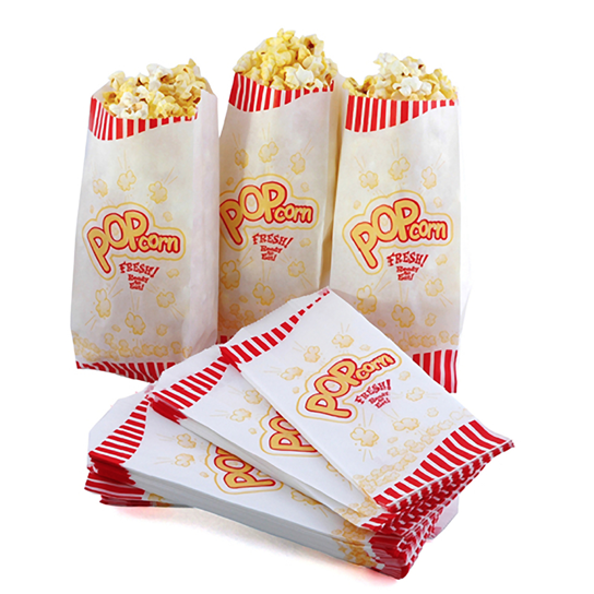 Popcorn And Cotton Candy Popcorn Bags