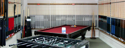 Our Showroom's Billiards Selection