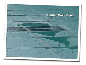 Centre Mesh Drain on Safety Cover