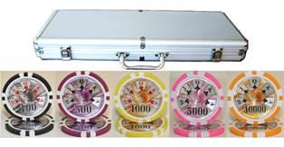 Benjamin Franklin 500 Piece Clay Poker Chip Set