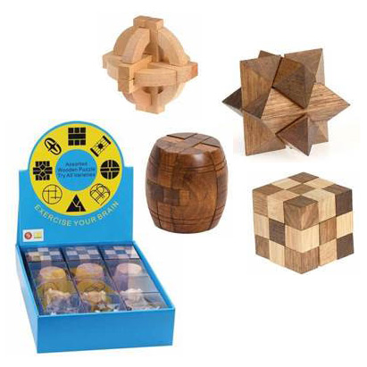 Brain Teaser Wooden Puzzles