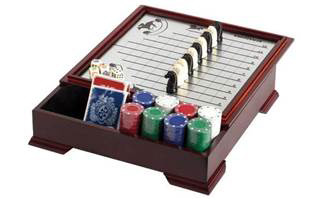 Horse Racing Game with Checkers and Poker