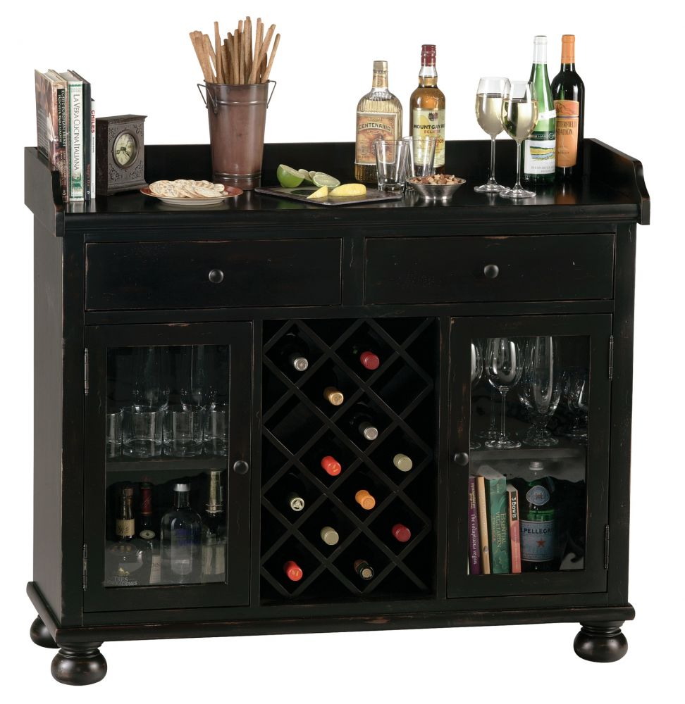 Top Server W Wine Rack: Bar Furniture: Cabernet Hills Wine And Bar Cabinet