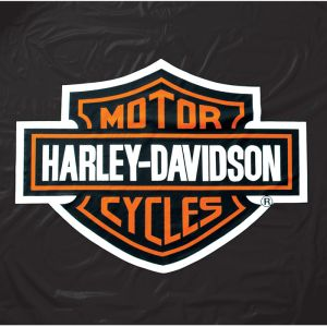 Harley-Davidson® 8 ft. Black Vinyl Pool Table Cover