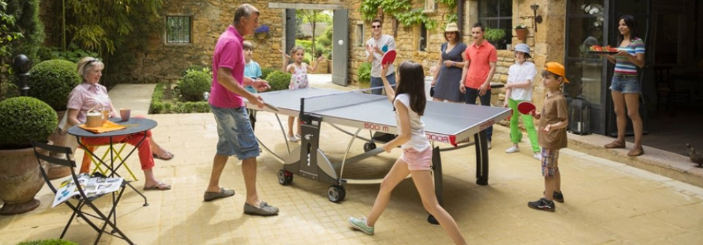 Take the fun outdoors with Table Tennis!