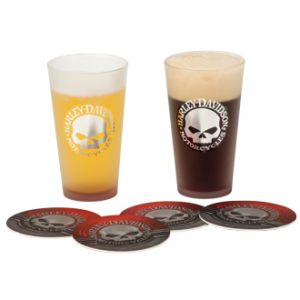 H-D® Skull Pint Glass Set