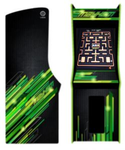 Green Upright Multicade Game with 400 Games