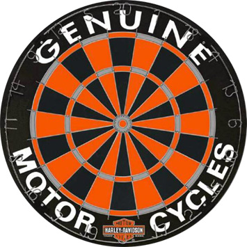Competition Harley Davidson Dartboard