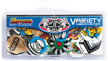 Harrows Variety Pack - 10 Sets of Dart Flights
