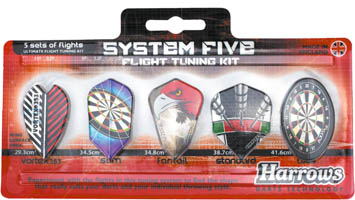 Harrows System Five Dart Flight Tuning Kit
