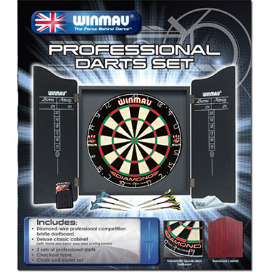 Winmau Pro Dartboard and Cabinet Set