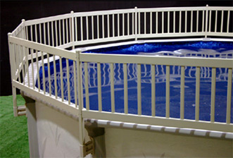Pool Safety Fence - Shown in Taupe