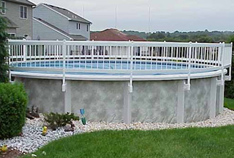 Pool Safety Fence - Shown in White