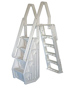 Vinyl Works 24 Inch Deluxe-In Pool Step w/ Slide Lock Ladder