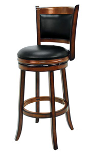 Backed Swivel Bar Stool