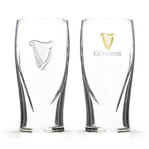 Guinness Pint Glasses (Embossed)
