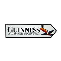 Guinness Metal Toucan James Gate Road Sign