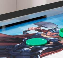 Marvel Universe Air Hockey Table Close-Up