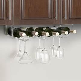Wine and Glass Rack – 6 bottle