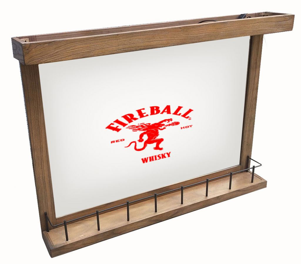 Fireball Wall Bar Mirror