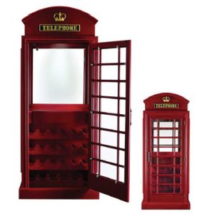 Old English Telephone Booth - Bar Cabinet