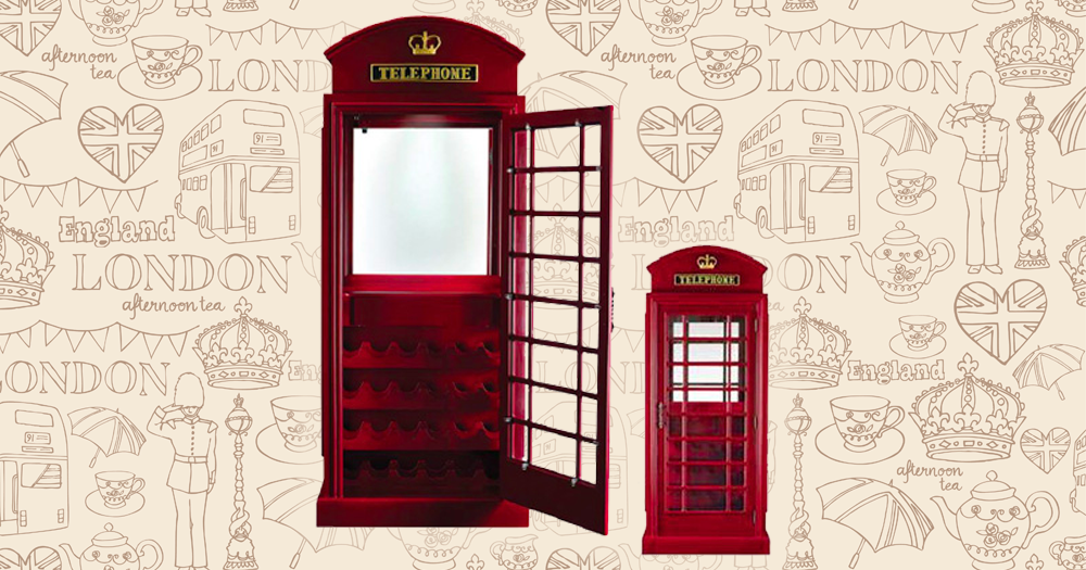 Magnificent Old English Telephone Bar Cabinet Featured On Cityline The Download Free Architecture Designs Scobabritishbridgeorg