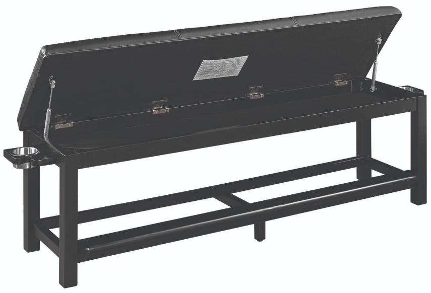 Spectator Storage Bench - Open