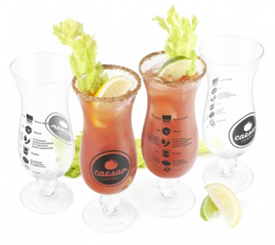 4 Piece Caesar Cocktail Glass Set