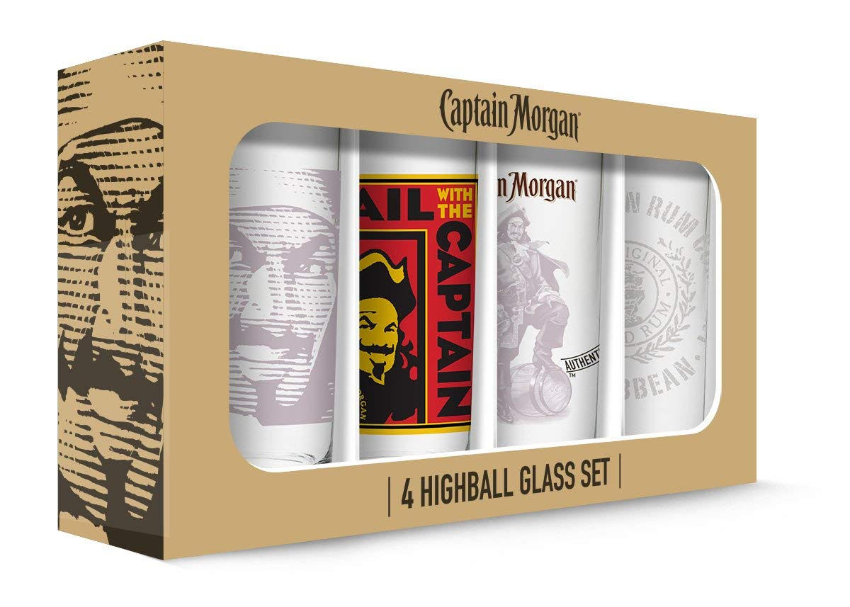 Captain Morgan Highball Glasses