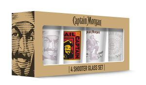 Captain Morgan Shot Glasses – Set of 4