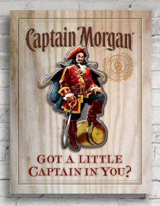 Captain Morgan 12 x 18 Wall Sign