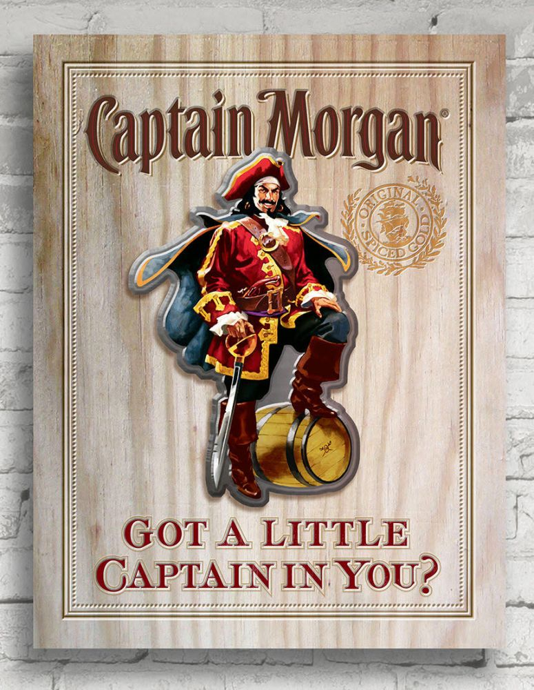 Captain Morgan 12 x 18 Wall Sign