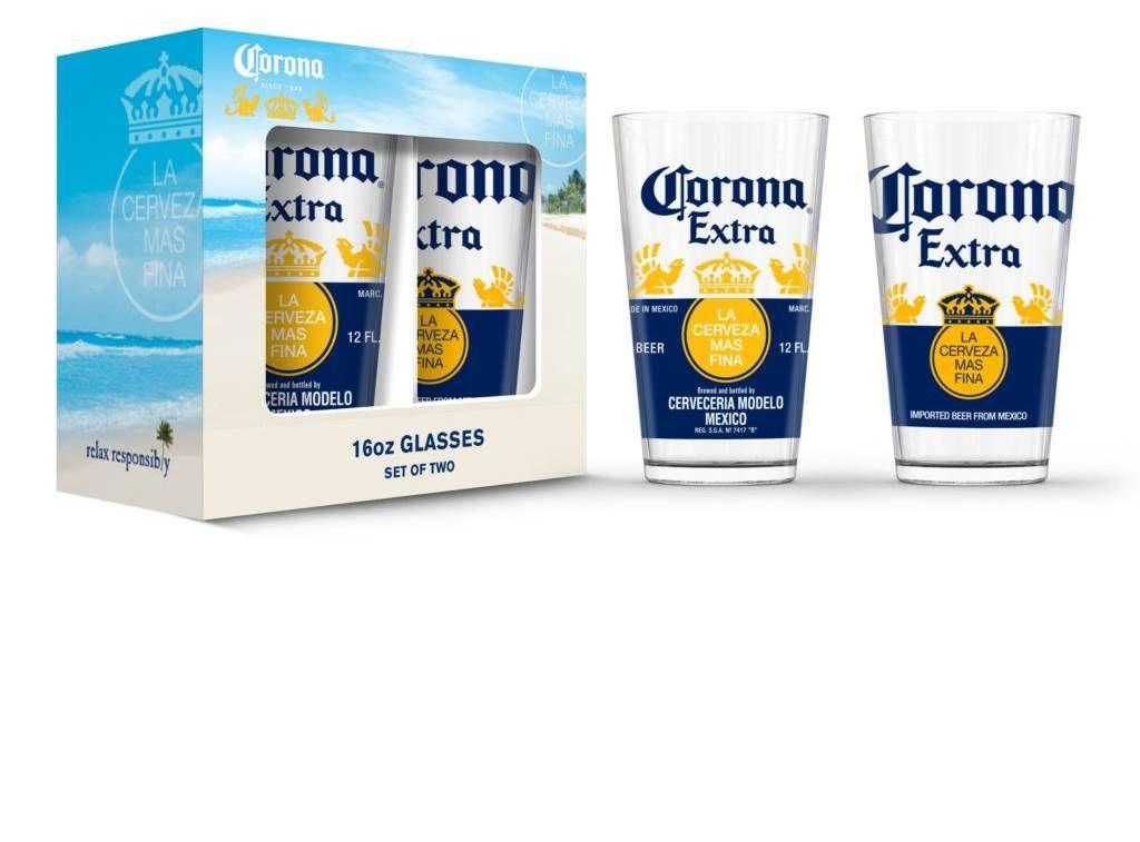 Corona Extra Pub Glasses