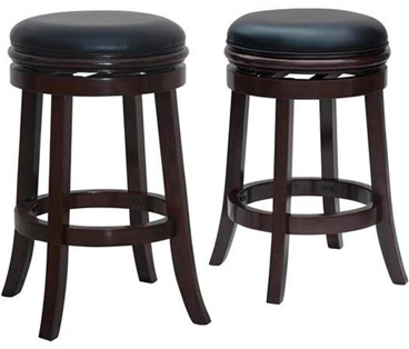 Backless Swivel Stool - Two Heights Shown