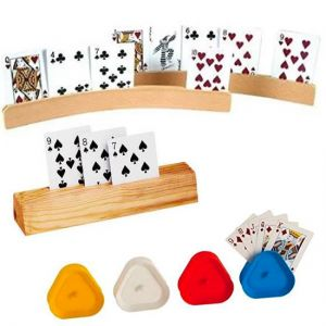 Plastic and Wooden Card Holders