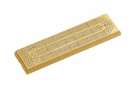Natural Wood 2-Track Cribbage Board