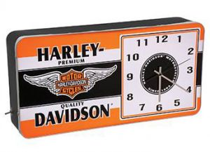 HD™ Winged Bar & Shield LED Ad Clock