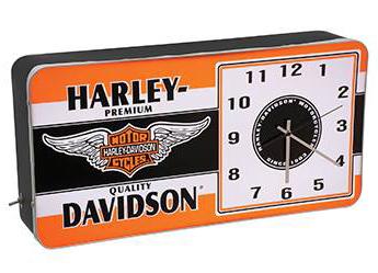 HD™ Winged Bar & Shield LED Ad Clock