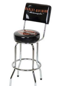 H-D® Bar & Shield Bar Stool w/ Backrest