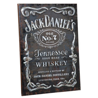 Jack Daniel's® Label Metal Wall Art