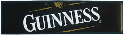 Guinness Wet Stop Bar Runner