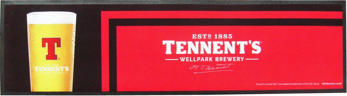 Tennent's Wet Stop Bar Runner