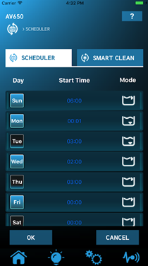 AquaVac 650 Weekly Schedule
