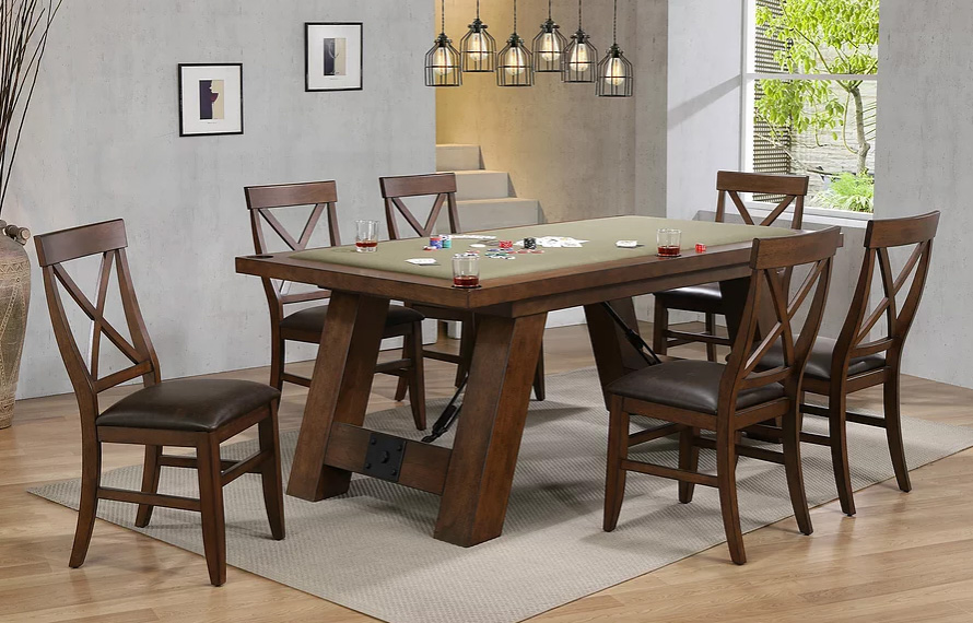Savannah 7-Piece Poker Table Set