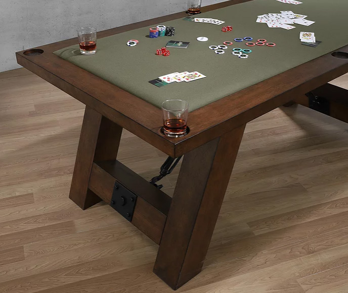 Savannah Olive Green Poker Table Top