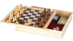 Game Set - 6 in 1 Chess/Backgammon Plus