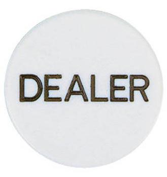 Dealer Button - White Plastic