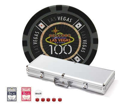 Las Vegas 500pc Tournament Poker Chip Set