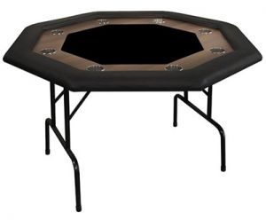 Supreme Folding Octagonal Poker Table (Black)