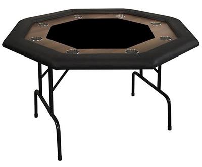 Supreme Folding Octagonal Poker Table (Black)